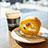 市美のカフェでロールケーキ