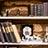 古い洋書の棚