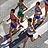 駆け抜けるマラソンランナー