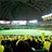 福岡ヤフードームで黄色い風船を飛ばす