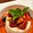 ブランマンジェ苺と黒蜜のソース