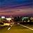 夕暮れの高速